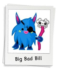 Moshi Monsters - Big Bad Bill and the Woolly Blue Hoodoos ...